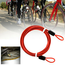 2Meters Security Double Loop Cable Strong Braided Steel For Bike Chain T Jd