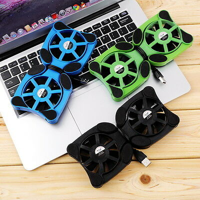 Mini Portable USB Cooler Cooling Pad with 2 Fans For Laptop Notebook PC black f5