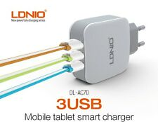 LDNIO DL - AC70 Fast 2 USB Auto ID Smart Wall Charger 3.4A with Micro USB Cable