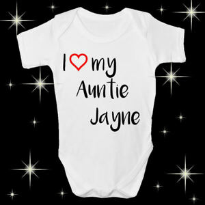 ea7dc0d1b PERSONALISED I LOVE MY AUNTIE BABY SHOWER
