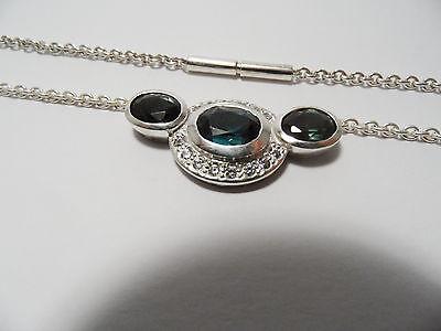 Collier in 925 Silber Sterlingsilber Kette Halskette Turmalin Handarbeit Unikat   eBay