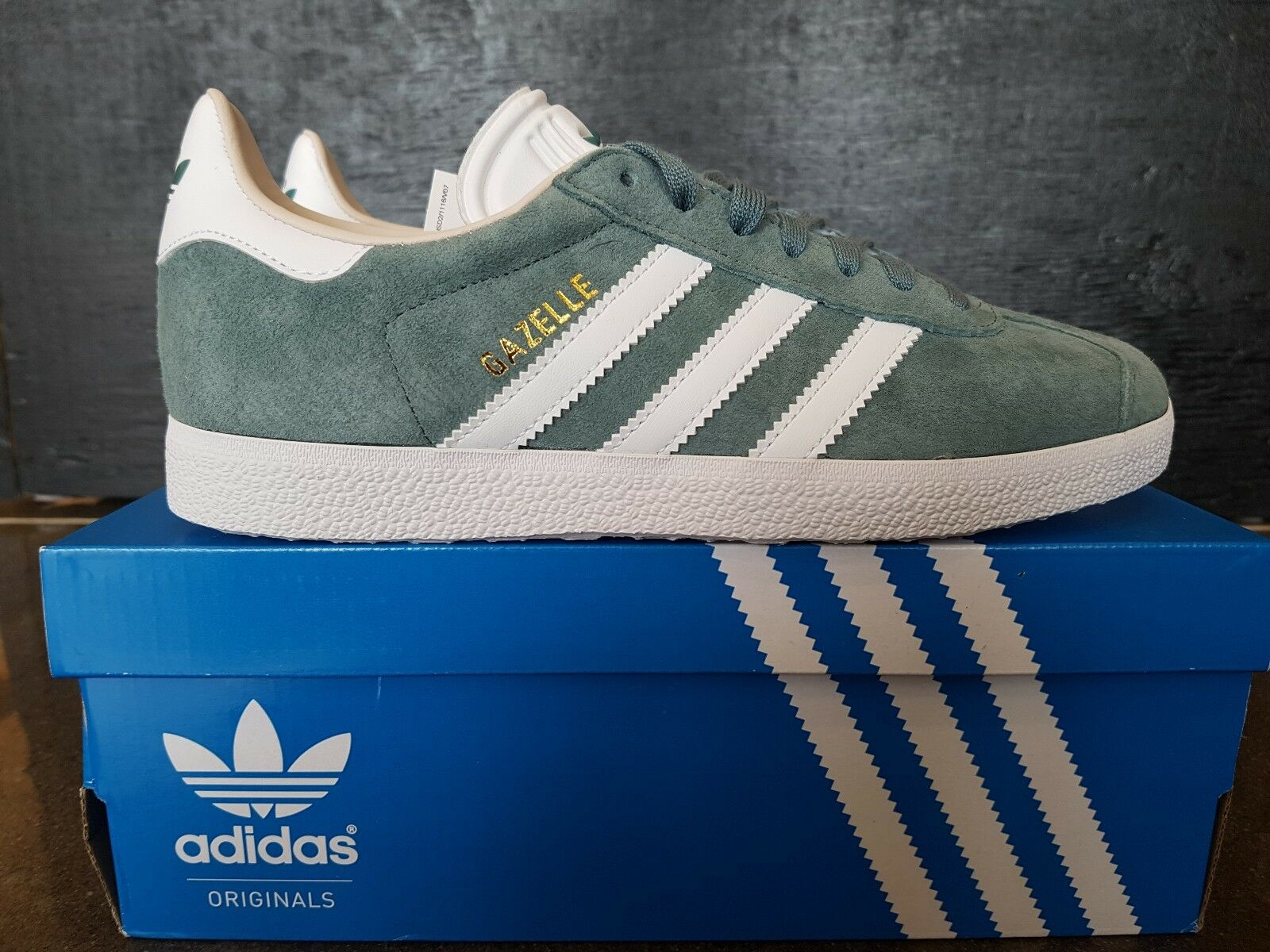 NEW IN THE BOX ADIDAS GAZELLE Donna B41661 RAW GREEN FOR Donna