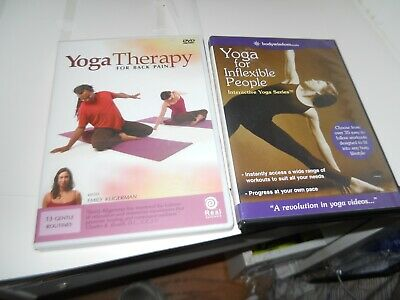 yoga therapy for back pain dvd  yoga for inflexible