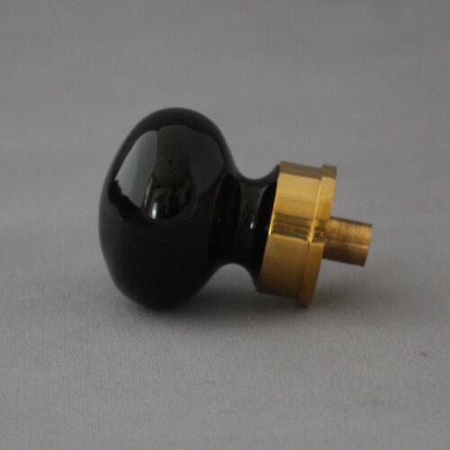 Bohemian Black Glass Cabinet Knob
