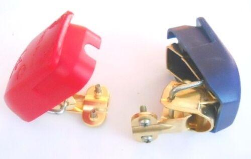 BATTERY TERMINALS CLAMPS KIT CAR VAN BOAT CARAVAN LEISURE CONNECTORS // 2 NEW