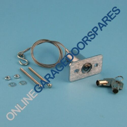 Garage Door External Release Device - Round Key Type with 3' Cable