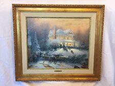 Thomas Kinkade Victorian Christmas II Painting Publisher Proof Signed Numbered