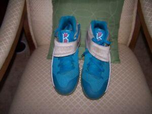 8ad9c236f0a Nike Kyrie 2 Christmas White Blue Lagoon Omega Obsidian Shoes 823108 ...
