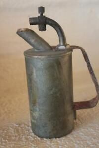 Vintage-Brass-Lenk-Mfg-Alcohol-Blow-Jeweler-Torch-Mini-Newton-Massachusetts