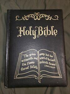 Mendenhall King James Version Holy Bible Vintage 1971 Large Print Red Letter