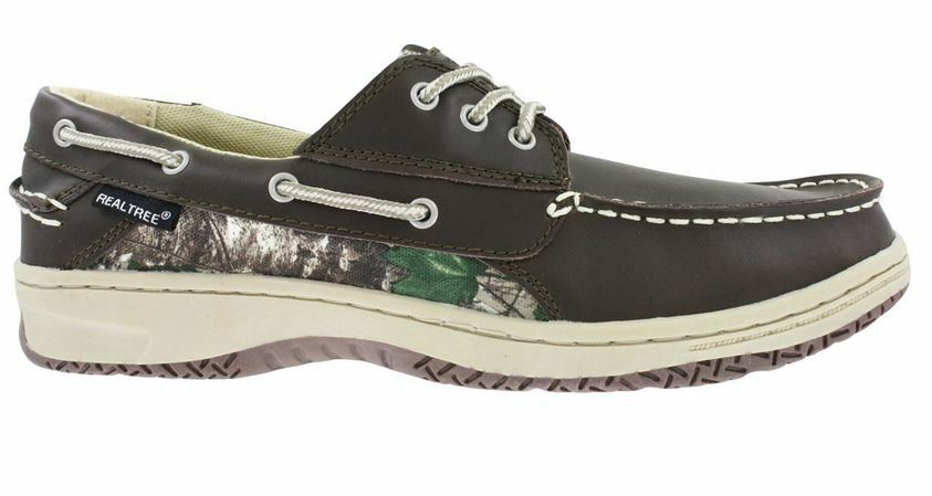 Realtree Camo Size 9.5 Brown Leather Boat shoes New Mens shoes