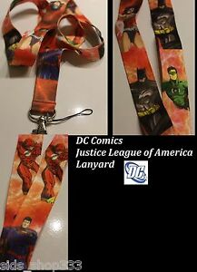 DC-comics-JUSTICE-LEAGUE-of-America-Lanyard-Neck-Strap-Keychain-ID-Badge-Holder