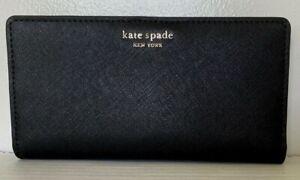 New-Kate-Spade-New-York-Cameron-Large-Slim-Bifold-Leather-wallet-Black