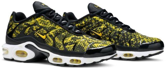 Nike Air Max Plus Black Yellow Snakeskin Shoes Ct1555 001 Women's Size 6