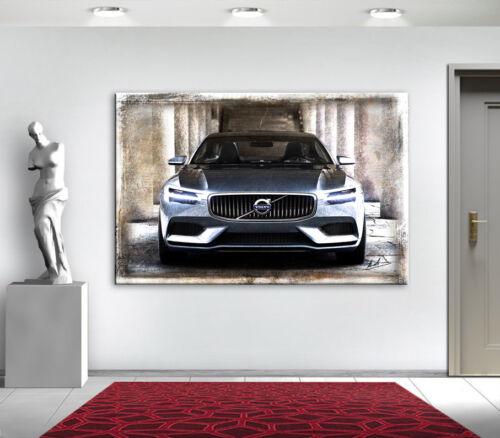 Volvo Concert Coupe Auto Bilder auf Leinwand Wandbild Kunst Abstrakt XLL 2159A