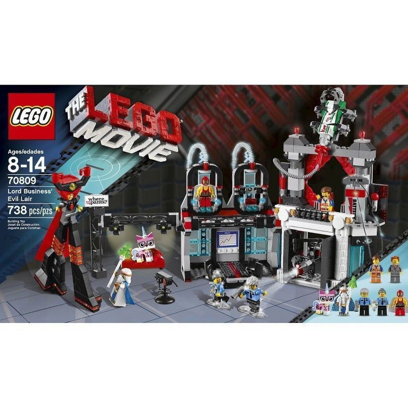 LEGO Movie Lord Business' Evil Lair (70809) Brand New in Box 738pcs