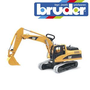 Bruder-Cat-Excavator-Construction-Digger-Kids-Childrens-Toy-Model-Scale-1-16