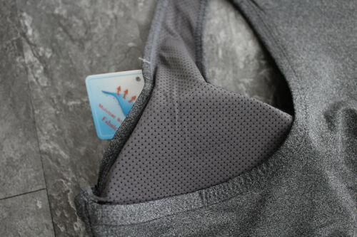 OunoSport Bustier Sport BH Einlagen S//M L//XL Stretch BRA Comfort BH Silber Stern