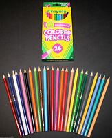 Crayola Colored Pencils 24-pack Assorted Colors Crafts School Drawing - 1 Box