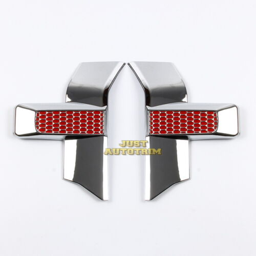 Red//black honeycomb headlight/&grille Chrome Cover trim  for 15-17 Ford F150