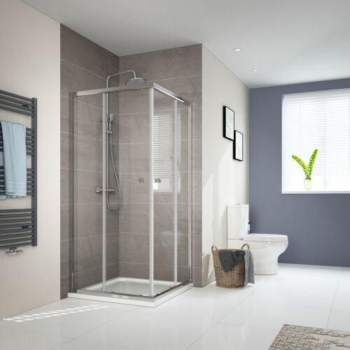 Duschkabinen Schiebetür Eckeinstieg 75x80 80x80 90x100 duschabtrennung ESG Glas