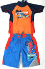 Boys Rash Top & Board Short Set Size 2 3 4 5 6 Rashie Swim Yabby Bathers New!