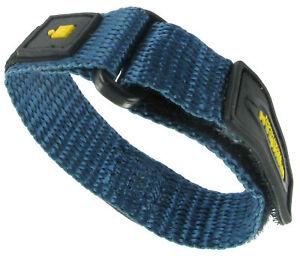7c18929ed988 12-16mm Timex Fast Wrap Strap Nylon Blue and Yellow Ladies Sports ...