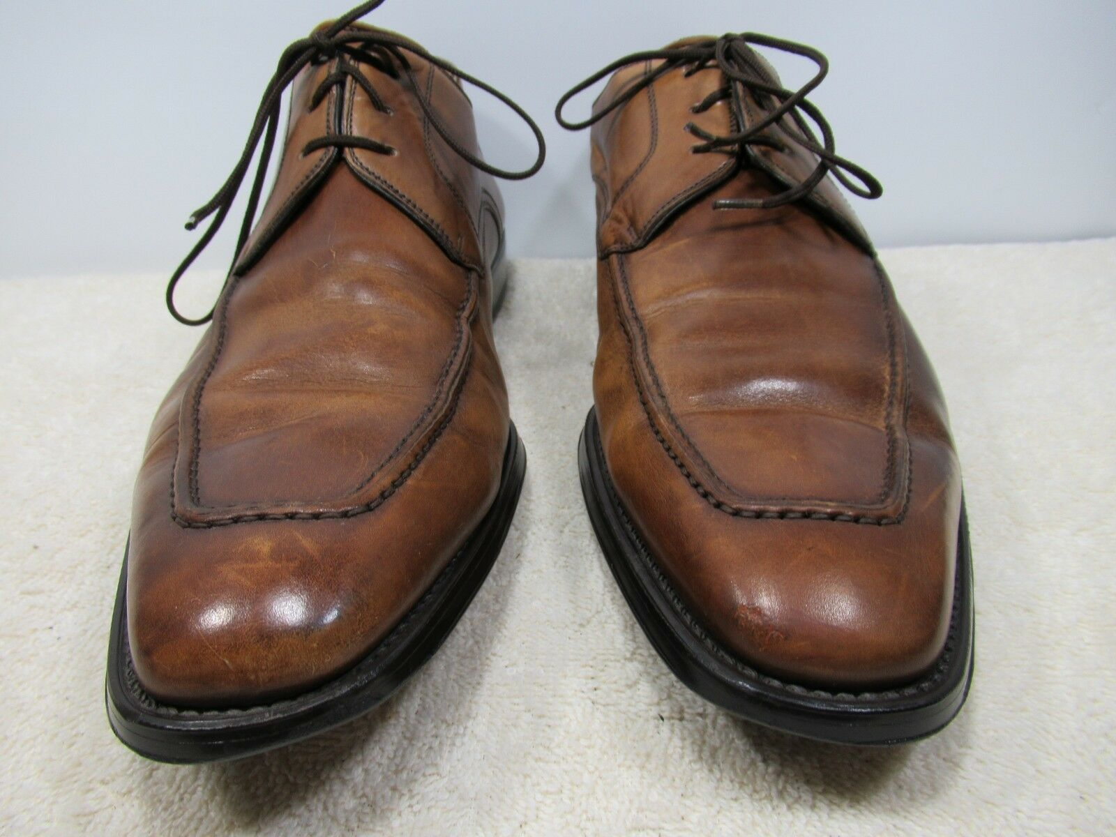 MAGNANNI braun LEATHER UPPER UPPER LEATHER Größe 8.5 M MADE IN SPAIN 3deef9