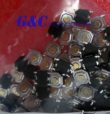 100PCS SMD SWITCH 5.2mm x 5.2mm x 1.5  Tact Switch NEW GOOD QUALITY