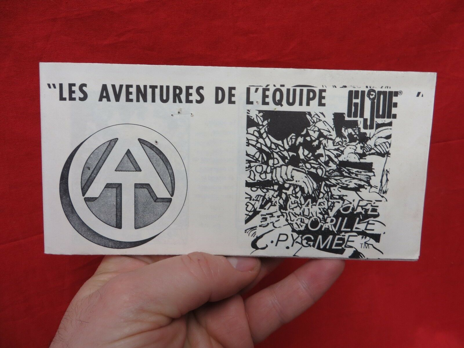 1964 VINTAGE GI JOE JOEZETA   FRENCH CANADIAN ADVENTURE TEAM PIGMY GORILLA BOOK