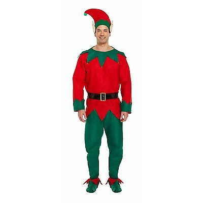 Disfraz Hombre Navidad Elfo Traje - TALLA ÚNICA PARA HASTA LA 111.8cm Pecho