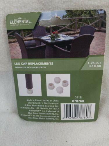 "LOT OF 12 Outdoor Leg Cap Replacement Cream 1.25/"" Elemental Outdoor Solutions"