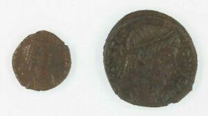Ancient-Roman-Empire-Coin-Lot-Emperor-Constantine-the-Great-amp-Emperor-Arcadius