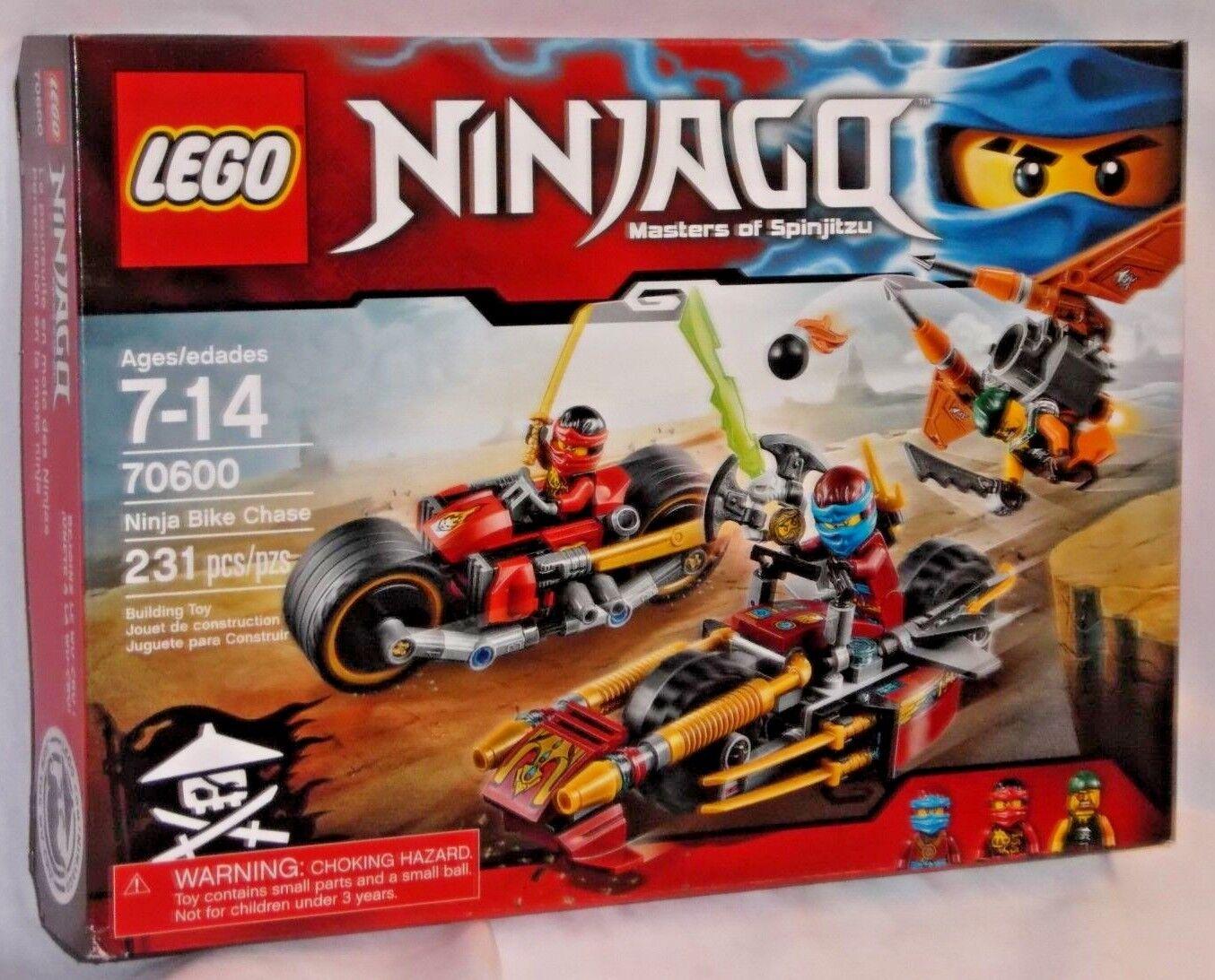 NEW SEALED 70600 LEGO Ninjago NINJA BIKE CHASE Motorcycle Vehicle 231 pc RETIrosso
