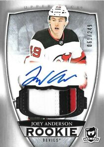 2018-19-U-D-034-THE-CUP-034-ROOKIE-JOEY-ANDERSON-R-C-AUTO-PATCH-249-NEW-JERSEY