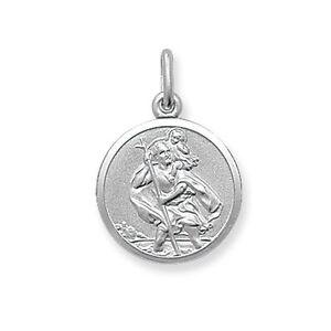 DemüTigen St.christopher Solides Silber 16mm Rohstoffe Sind Ohne EinschräNkung VerfüGbar