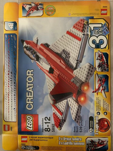 BOX ONLY Lego Creator 5892 Sonic Boom Jet Aircraft Airplane Speedboat
