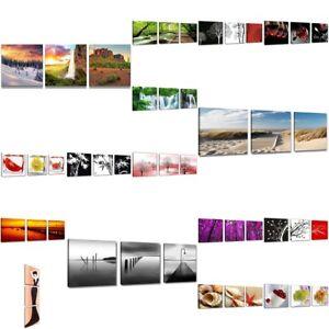 Leinwand wandbilder verschiedene bilder motive 150 x 50 cm dreiteilig 1575 c1 ebay - Leinwand motive ...