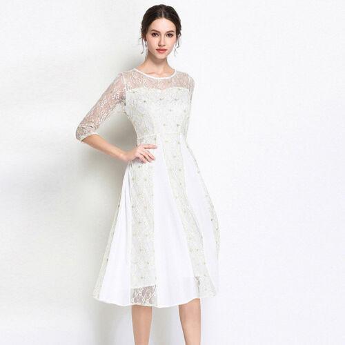 Longue Blanc Robe Doux Longue Robe Genouv qrggEf