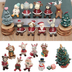 Tabletop-Christmas-Tree-Decorations-Animals-Decor-Santa-Snowman-Gifts-Display-UK
