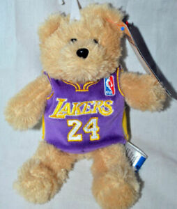 Details about LA Lakers Kobe Bryant #24 official NBA Road Jersey Teddy Bear