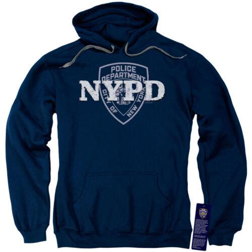 NYPD Sweat à Capuche New York Police Dept Logo Bleu marine Hoody