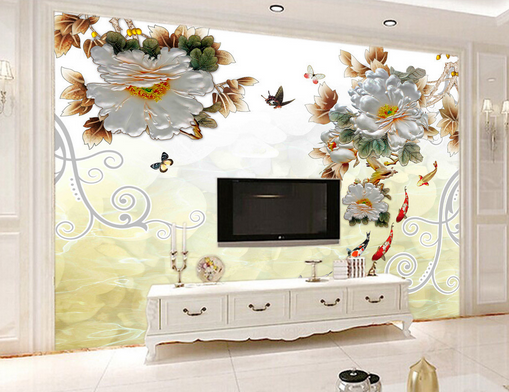 3D Painted Butterfly Petal 6 Paper Wall Print Wall Decal Wall Deco Indoor Murals