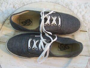 VANS Women's Size 7 Men's 5.5 Classic Low Top Sneakers Skater Shoes Black Tweed