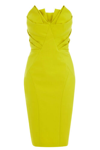 Y bustier bandeau jaune Robe bandeau chartreuse Coast 34 jaune 2 bustier 6 Sherzi TJ3FclK1