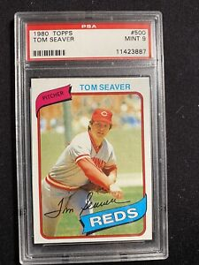 1980 TOPPS #500 TOM SEAVER REDS PSA 9 MINT Free Shipping