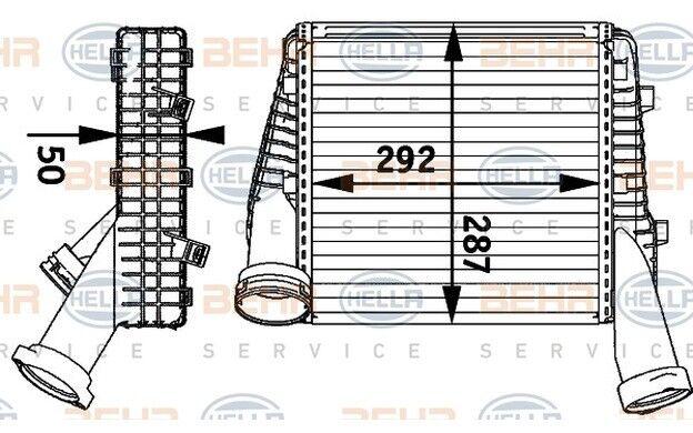HELLA Radiador de aire admisión para VW TOUAREG AUDI PORSCHE 8ML 376 729-561