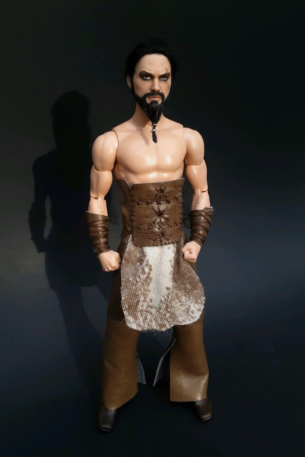 Uno de una clase Khal Drogo Juego Tronos Jason Momoa Pintar Ken Muñeca Barbie verdadero moer