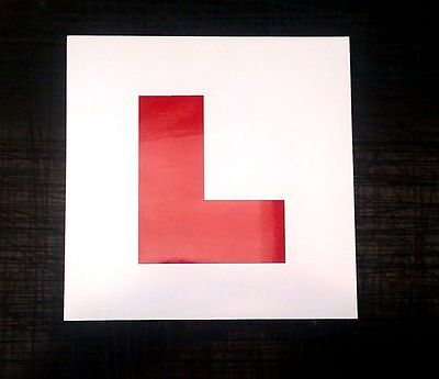 2 X Self Adhesive L Plates For Learner Drivers Pure And Mild Flavor