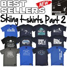 Can/'t Stop Skiing MENS Powder Monkeez T-SHIRT birthday gift apres ski skier